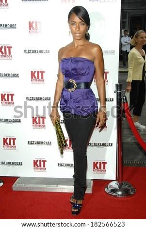 Jada Pinkett Smith at Premiere of KIT KITTREDGE AN AMERICAN GIRL, The Ziegfeld Theatre, New York, NY, June 19, 2008 - stock photo