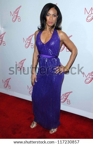 """Jada Pinkett Smith at the """"Celebrate Mary J. Blige"""" Party Hosted by Jada and Will Smith. Boulevard 3, Hollywood, CA. 02-09-07 - stock photo"""