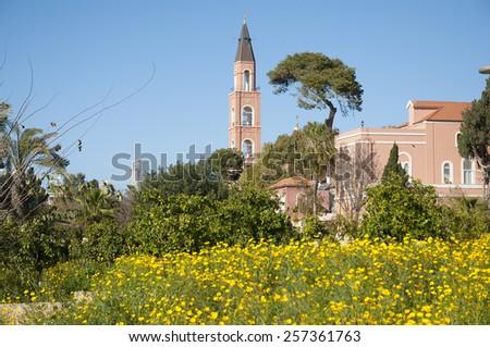 Jaffa, Russian Church St. Petrus - stock photo
