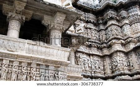 Jagdish Mandir Temple Udaipur India - stock photo