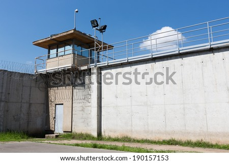 jail, tower - stock photo