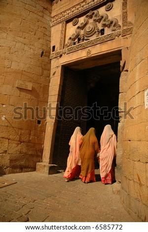 Jaisalmer gate - stock photo