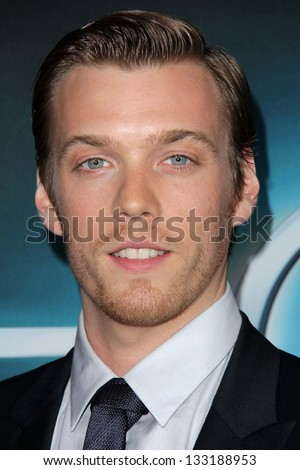 """Jake Abel at """"The Host"""" World Premiere, Arclight, Hollywood, CA 03-19-13 - stock photo"""