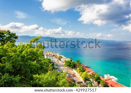 Jamaica island, Montego Bay - stock photo