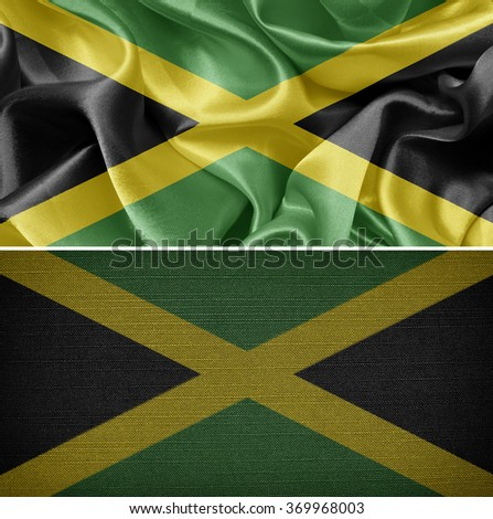 Jamaican textile flags - stock photo