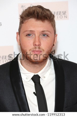 James Arthur arriving at the The Amy Winehouse foundation ball held at the Dorchester hotel, London. 20/11/2012 Picture by: Henry Harris - stock photo