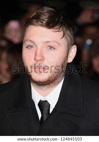 James Arthur arriving for the Django Premiere, at Empire Leicester Square, London. 10/01/2013 Picture by: Alexandra Glen - stock photo