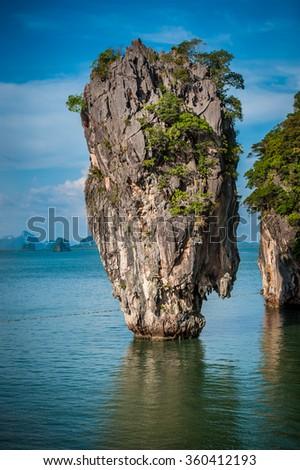 James Bond Island - Phang Nga Bay, Thailand - stock photo