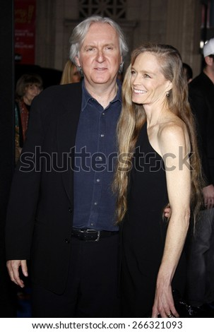James Cameron and Suzy Amis at the Los Angeles premiere of 'Avatar' held at the Grauman's Chinese Theater in Hollywood on December 16, 2009.  - stock photo