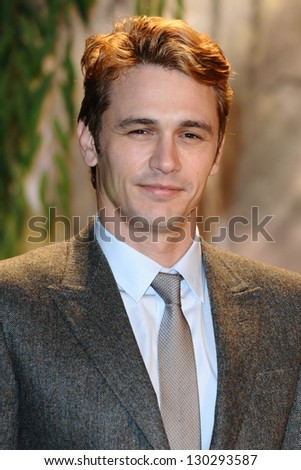 "James Franco arrives for the premiere of ""Oz The Great And Powerful"" at the Empire Leicester Square, London. 28/02/2013 Picture by: Steve Vas - stock photo"