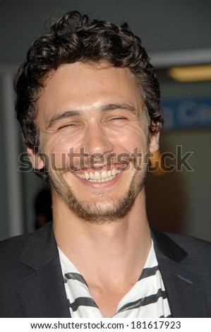 James Franco at IN THE VALLEY OF ELAH Premiere, ArcLight Hollywood Cinema, Los Angeles, CA, September 13, 2007 - stock photo