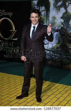 """James Franco at the """"Oz The Great and Powerful"""" World Premiere, El Capitan, Hollywood, CA 02-13-13 - stock photo"""