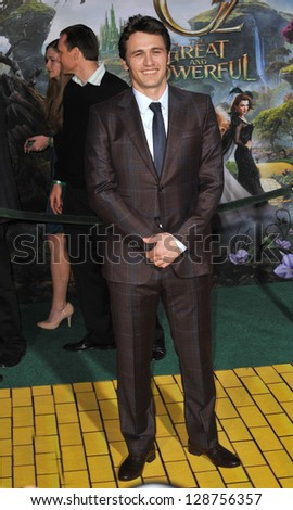 """James Franco at the world premiere of his movie """"Oz: The Great and Powerful"""" at the El Capitan Theatre, Hollywood. February 13, 2013  Los Angeles, CA Picture: Paul Smith - stock photo"""