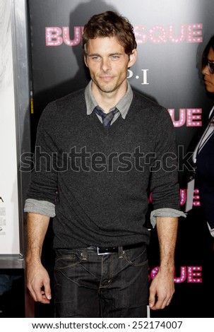 """James Marsden at the Los Angeles Premiere of """"Burlesque"""" held at the Grauman's Chinese Theater in Hollywood, California, United States on November 15, 2010.  - stock photo"""