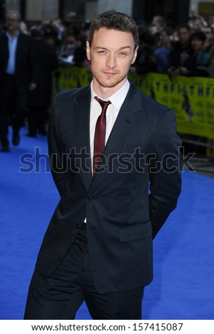 """James McAvoy arriving for the """"Filth"""" premiere at the Odeon Leicester Square, London. 30/09/2013 - stock photo"""