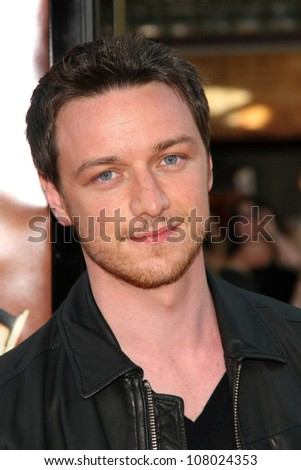 """James McAvoy  at the World Premiere of """"Wanted"""". Mann Village Westwood, Westwood, CA. 06-19-08 - stock photo"""