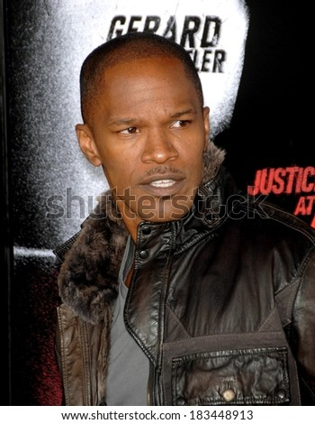Jamie Foxx at LAW ABIDING CITIZEN Premiere, Grauman's Chinese Theatre, Los Angeles, CA October 6, 2009  - stock photo