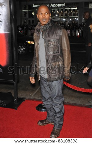 """Jamie Foxx at the Los Angeles premiere of his new movie """"Law Abiding Citizen"""" at Grauman's Chinese Theatre, Hollywood. October 6, 2009  Los Angeles, CA Picture: Paul Smith / Featureflash - stock photo"""