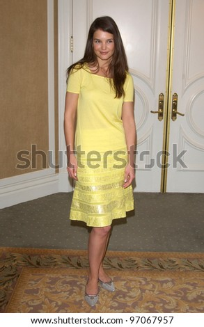 Jan 13, 2005; Beverly Hills, CA; Actress KATIE HOLMES at a party by In Style Magazine and the Diamond Trading Company at the Beverly Hills Hotel to kick off the 2005 Award Season. - stock photo