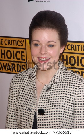 Jan 10, 2005; Los Angeles, CA:  Actress TINA MAJORINO at the 10th Annual Critcs' Choice Awards at the Wiltern Theatre, Los Angeles. - stock photo