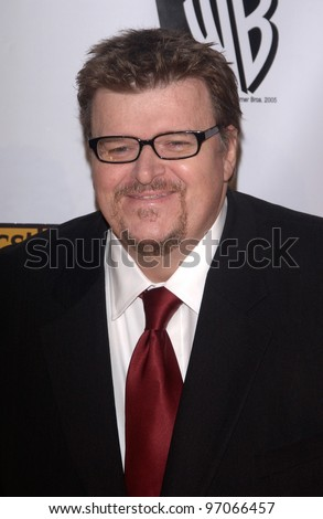 Jan 10, 2005; Los Angeles, CA:  Documentary filmmaker MICHAEL MOORE at the 10th Annual Critcs' Choice Awards at the Wiltern Theatre, Los Angeles. - stock photo