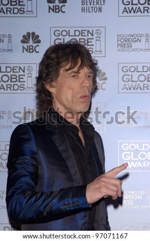 Jan 16, 2005; Los Angeles, CA: MICK JAGGER at the 62nd Annual Golden Globe Awards at the beverly Hilton Hotel. - stock photo
