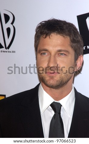 Jan 10, 2005; Los Angeles, CA:  Phanthom of the Opera star GERARD BUTLER at the 10th Annual Critcs' Choice Awards at the Wiltern Theatre, Los Angeles. - stock photo