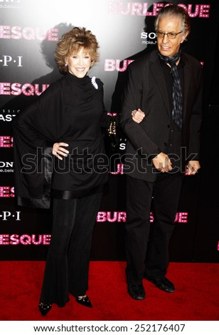 "Jane Fonda at the Los Angeles Premiere of ""Burlesque"" held at the Grauman's Chinese Theater in Hollywood, California, United States on November 15, 2010. - stock photo"