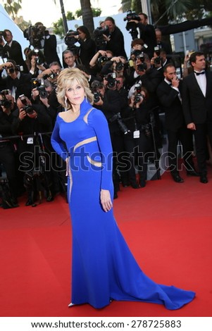 Jane Fonda attend the premiere of 'The Sea Of Trees' during the 68th annual Cannes Film Festival on May 16, 2015 in Cannes, France. - stock photo