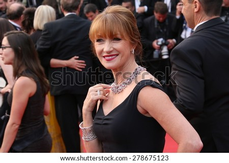 Jane Seymour attends the 'Mad Max : Fury Road' Premiere during the 68th annual Cannes Film Festival on May 14, 2015 in Cannes, France. - stock photo