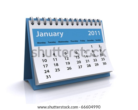 january 2011 calendar - stock photo