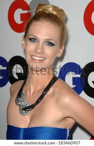 January Jones at Gentleman's Quarterly GQ Men of the Year Event, Chateau Marmont, Los Angeles, CA November 18, 2009 - stock photo