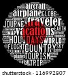 Japan flag and travel info-text graphics arrangement concept on black background - stock photo