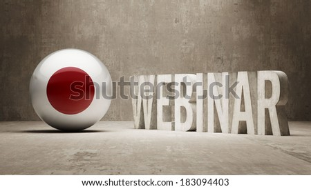 Japan High Resolution Webinar Concept - stock photo