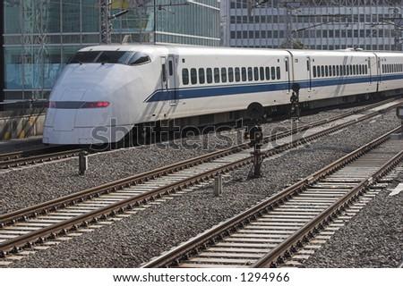 Japan's bullet train, the Shinkansen - stock photo