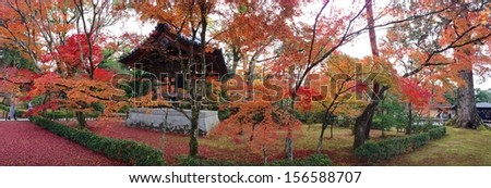 Japan Temple panorama - stock photo