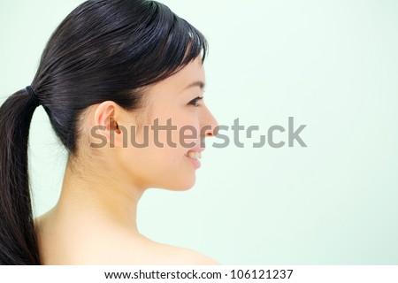 Japanese beautiful girl - stock photo