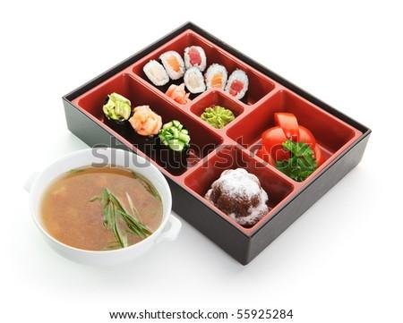 Japanese Bento Lunch - stock photo