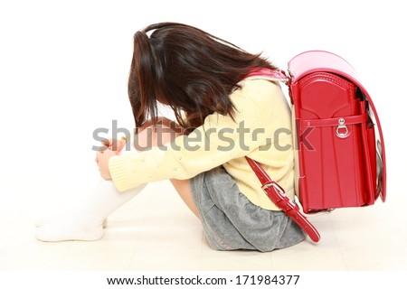 Japanese bullied child - stock photo
