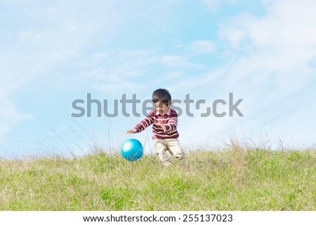 Japanese child - stock photo