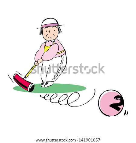 Japanese croquet - stock photo