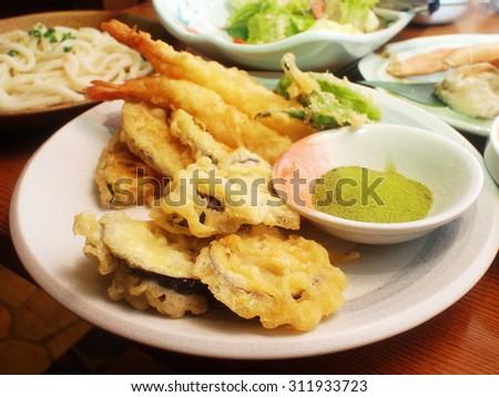 Japanese cuisine - deep Fried  - stock photo