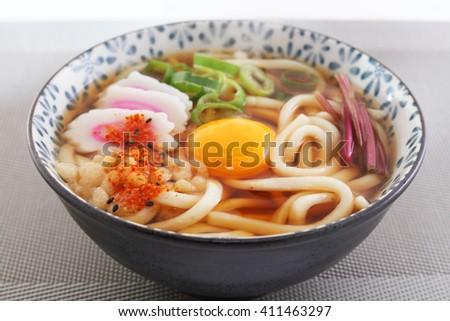 Japanese cuisine - Udon noodles - stock photo