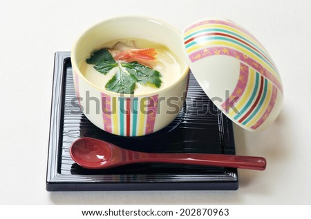japanese dish chawan-mushi - stock photo