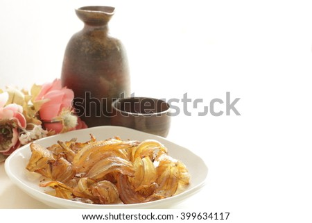 Japanese food, aburi iwashi roasted Sardines - stock photo
