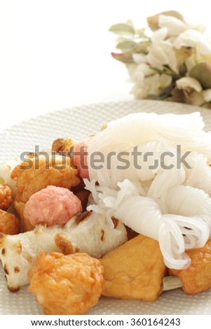 Japanese food, prepared Oden ingredient  - stock photo
