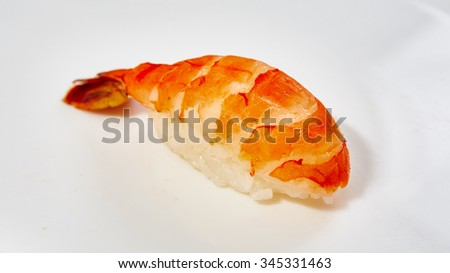 Japanese food restaurant - sushi rolls. Shallow dof - stock photo