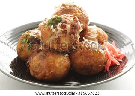 Japanese food, Takoyaki Octopus Ball - stock photo