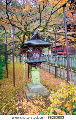 Japanese Garden in a shrine - stock photo