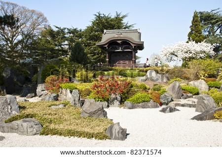 Japanese Garden in Kew Gardens, London. - stock photo